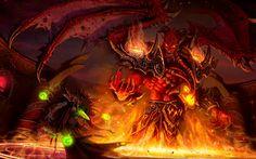 Video Game World Of Warcraft Warcraft Sunwell Blood Demon Fight Elf Monster Fire Magic Kael'thas Sunstrider Kil'jaeden (World Of Warcraft) Wallpaper