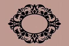 silhouette Photo frame wall decal antique por WallDecalsAndQuotes