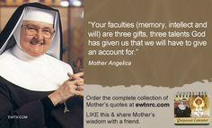 #MotherAngelica #ThursdayThought #EWTN #Catholic