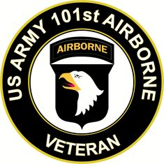US Army Veteran 101st Airborne Division Sticker Decal