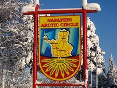 Napapiiri-kyltti Rovaniemellä