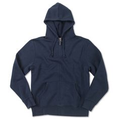 Navy Cotton Zip Up Hoodie by RED JACKET for THE ROYAL BLOKE