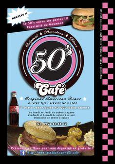 impression de flyers: Restaurant Américain : le 50's Café