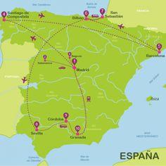 Guia viaje España | Itinerarios para viajar a España en 21 dias | Way Away