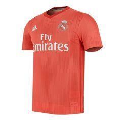 Camiseta 3a Real Madrid 18 - 19 roja | futbolmania Football Jerseys, Polo Shirt, Polo Ralph Lauren, Mens Tops, Shirts, Real Madrid Goalkeeper, T Shirts, Clothing, Football Shirts