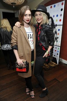 Lily Collins and Julianne Hough - Thirty Seconds to Mars Hollywood concert