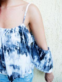Items similar to PARIS top- Cold Shoulder top. Off-the-shoulder top. on Etsy Off The Shoulder, Cold Shoulder, Stitches, Tie Dye, Paris, Summer, Clothes, Tops, Women
