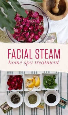 An at-home facial steam is a simple self-pampering treatment that will have you . - - An at-home facial steam is a simple self-pampering treatment that will have you feeling like you're relaxing at a luxurious spa! Diy Spa Day, Spa Day At Home, Spa Facial, Facial Skin Care, Facial Diy, Facial Masks, Facial Room, Avon Products, Beauty Products