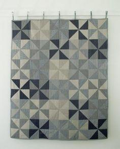 Denim Pinwheel Quilt | The Purl Bee