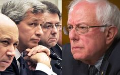 "Sanders Terrifies Big Banks: I Will Break You Up In My FIRST Year In Office - Bernie will while Hillary would merely  ""cosy-up"" further to them! That's the difference in leadership folks!!!!!"