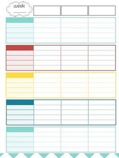 Teacher Planner / Organizer (red, blue, teal, yellow theme)