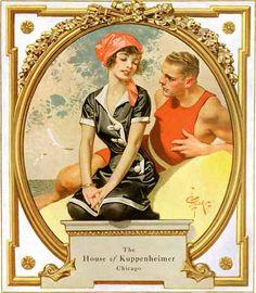 J.C. Leyendecker, illustration cover art for Kuppenheimer Style Booklet.