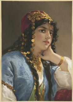 """""""Odalisque"""" by artist Gustav Karl Ludwig Richter (1823-1884)."""