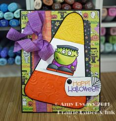 Card #2 from my 2011 Halloween Card Series by AmyR of Prairie Paper & Ink