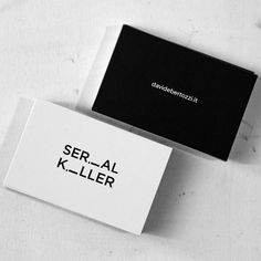 Serial Killer business card - #copywriter #communication #comunicazionepubblicitaria #immaginecoordinata #serialkiller #businesscard