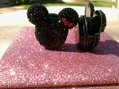Mickey and Minnie Mouse Plugs by ApplezJewelry on Etsy, $16.00