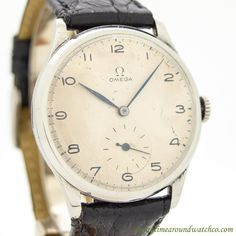 1936 Vintage Omega Jumbo Stainless Steel Watch