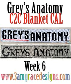 Grey's Anatomy C2C CAL free crochet pattern crochet-along