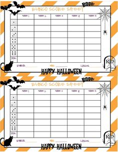 recipes from stephanie halloween bunco sheet bunco score sheets halloween themes halloween cards