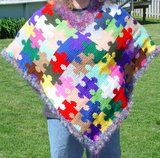 Print Page - Autism Awareness Puzzle Piece Poncho**NEW**Puzzle Scarf added!!**