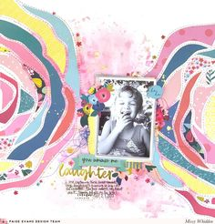 Paige Evans DT Project - NEW Pick-Me-Up collection; Flower Large cut file by Paige Evans available in Silhouette Store; Shimmerz Paints & Heidi Swapp Gold Color Shine on background