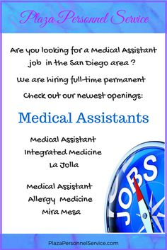 Medical Assistant Job Opportunity In San Diego Ca Plaza