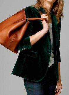 emerald velvet blazer. Yeah, I really want a velvet blazer...