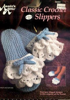 Crocheted house slippers