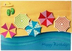 Hawaiian Greeting Card Designer Series Beach Umbrellas by IH. $4.49. Inside Message: Wishing you warm rays of sunshine on your birthday. The Designer Art Greeting Cards are the perfect way to show that special someone how much you care. Each card showcases either 3D artwork, sparkling glitter or shimmering sheen setting them apart from standard greeting cards with that handmade feel. Card Dimensions: 5.5 inch by 7.75 inch