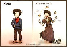 This. Is. Brilliant. How Arthur sees Merlin by Star-Jem.deviantart.com on @deviantART