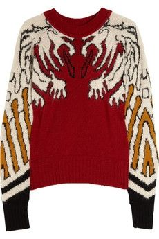 Carven|Gargoyle knitted intarsia sweater|NET-A-PORTER.COM - StyleSays