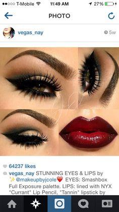 Love the eye make up! Gorgeous Makeup, Pretty Makeup, Love Makeup, Beauty Makeup, Makeup Looks, Awesome Makeup, Gorgeous Girl, Absolutely Gorgeous, Holiday Makeup