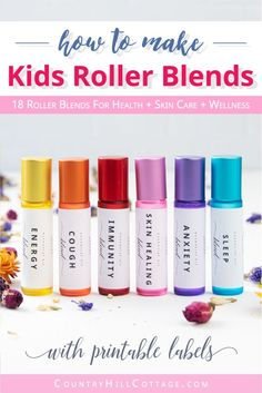 Essential Oils for Kids: 18 Essential Oil Rollerball Recipes for Children - Asthma Treatment Essential Oils For Headaches, Best Essential Oils, Young Living Essential Oils, Essential Oil Diffuser, Essential Oil Blends, Oils For Ear Ache, Young Living Kids, Chest Rub, Upset Tummy