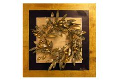 Double Border  Golden olive wall decor  Wreathbranches  by Maria Driva, $265.00
