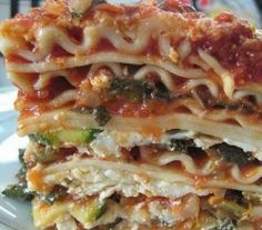 quick and easy veg lasagna.