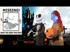 🎃Zero Is Missing! Inflatable Jack and Sally Nightmare Before Christmas Halloween, Halloween Town, Circus Maximus, Jack And Sally, Jack Skellington, Adventure, Photo And Video, Zero, Mom