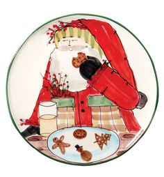 Adorbs. VIETRI - Old St. Nick Cookie Platter