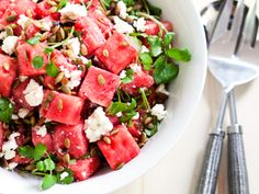 Top Chef contestant Grayson Schmitz may have a potty mouth but, boy, can she cook. Her watermelon salad is seasonal party perfection. Get the recipe here.