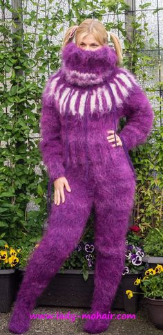 Catsuit, Gros Pull Mohair, Big Wool, Thick Sweaters, Mohair Sweater, Pullover, Unisex, Sweater Outfits, Lady