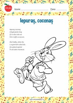 Iepuras, coconas Motor Skills Activities, Fine Motor Skills, Toddler Activities, Kids Poems, Kids And Parenting, Kindergarten, Preschool, Childhood, Homeschooling