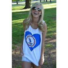Virginia Pride Tank Top in White. #Virginia #preppy #tank http://www.countryclubprep.com/mens/tee-shirts/virginia-pride-tank-top-in-white.html