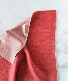 The Everyday Co. Red Twill Hand Towel / Cream