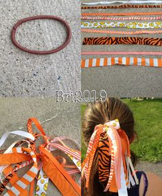 DIY for a hair tie  This one is for softball But you can make it for any sport or activity or just for fun