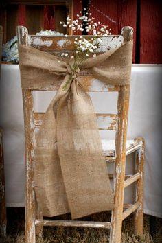 rustic boho vintage wedding hessian