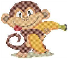 """Огненная обезьянка - символ грядущего 2016 года. Наша схема вышивки поможет решить вопрос """"Что подарить?"""". Рекомендуемый размер канвы 14, нитки фирмы DMC."""