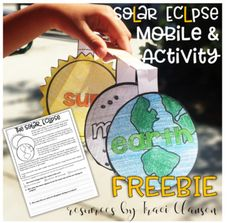 This freebie includes a informational text activity and a quick mobile craft activity to be used during to discuss the solar eclipse.