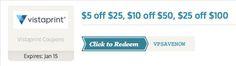 Save $25 on Vistaprint