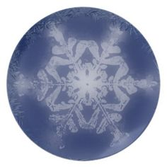 Snow Flake 8 Plate from Florals by Fred #zazzle #gift