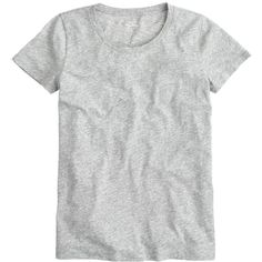 J.Crew Vintage Cotton T-Shirt ($39) ❤ liked on Polyvore featuring tops, t-shirts, tees, shirts, heathered shirt, j crew tee, loose tee, vintage tees and t shirts