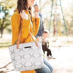 Petunia Pickle Bottom Diaper Bag Mini Downtown Tote Glazed Breakfast in Berkshire #laylagrayce